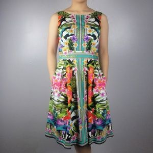 Maggy London Vibrant Tropical Chain Dress